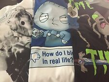 Mixed Lot of TV Show T-shirts - Dr Who, Stewie (Family Guy)  & Adventure Time