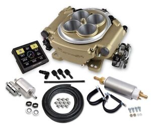 HOLLEY SNIPER EFI SELF-TUNING MASTER KIT,GOLD,4-BRL,FUEL INJECTION CONVERSION