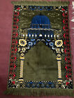 Vintage Turkish Prayer Rug Tapestry Wall Hanging Boho Beauty 46X27 in.