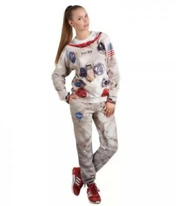 Fusion Clothing Apollo 11 Astronaut COSTUME SMALL COSPLAY COMPLETE Sweatsuit