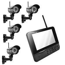 Funk Videoüberwachung Überwachungssystem Funküberwachung 4 Kamera VIDEO