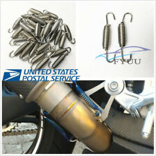 US Shipping 6 Pcs Silver Stainless Steel Spring Hook For Motorcycle Bike Muffler