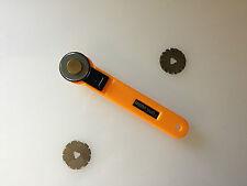 28 Mm Cortador rotatorio, con 3 diferentes cuchillas! Directo, pinking y Onda!!!