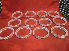 Clear Plastic Shower Curtain Snapping Rings - 12 Rings