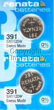 2 pc 391 Renata Watch Batteries SR1120W FREE SHIP 0% MERCURY