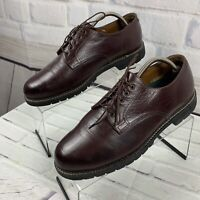 H.S. Trask Derby Shoes Men's Brown Buffalo Leather Cap Toe Lace Up US Size 11 W