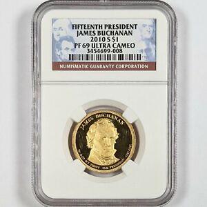 2010-S President James Buchanan $1 NGC PR 69 Ultra Cameo 181665B