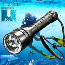 LED Diving Flashlight Torch 5*T6LEDs 200M Underwater Professional Dive Torch