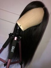 Human Hair Lace Closure Wig Straight 20 Inches 100% Virgin Brazilian Hair