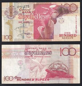 Seychelles 100 rupees 2001 SPL/XF  A-01
