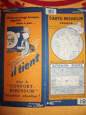 carte michelin 81 avignon digne 1928