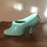Victorian Shawnee USA Pottery ladies shoe planter or vase