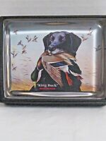 """WINCHESTER Waterfall Glass Collection paperweight """"King Buck"""" black lab Duck"""