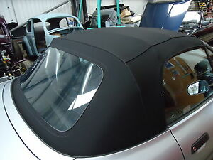 BMW Z3 - New Black Mohair Hood With Plastic Rear Screen