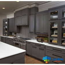 Grey Kitchen Cabinets - WOOD CABINETS - 10 X 10 RTA Cabinets, Gray Cabinets