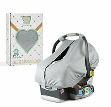 Deluxe Baby Car Seat Cover Canopy Wtih Front Acces Panel and Handy Travel Bag