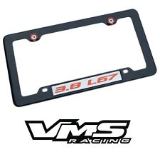 VMS 1 CARBON FIBER LOOK LICENSE PLATE FRAME FOR CHEVY 3.8 L67 RDSL