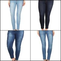 Women's Plus Size High Waist Super Stretchy Jeggings Pull-On Skinny Denim Jeans