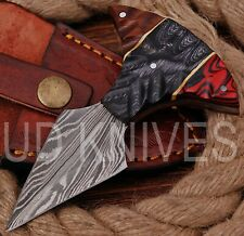UD KNIVES CUSTOM HANDMADE DAMASCUS STEEL HUNTING FULL TANG KNIFE R-8824