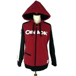 Canada 2010 Olympics Womens Large Jacket Soft Shell Hudsons Bay Winter Team Red