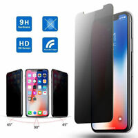 For iPhone 11 Pro XS Max XR 2 PCs Privacy Anti-Spy Tempered Glass Screen Protect