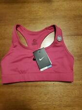 NWT Nike Logo Victory Sports Bra Womens Medium Support Pink Size XSmall