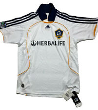 Vintage Los Angeles Galaxy MLS Soccer Adidas White Jersey Kids Youth Large