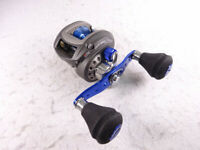 Abu Garcia Bait Reel Seabass Salty Stage Aura RF Left Blue Color Used