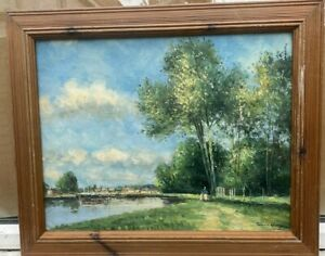 PRETTY 1960s ENGLISH IMPRESSIONIST OIL PAINTING - EDWARD WESSON 1910 - 1983