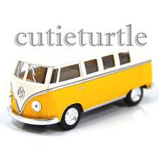 Kinsmart 1962 VW Volkswagen Classic Bus Samba 1:32 w Cream Color Top Yellow