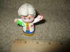 Fisher Price Little People Man Doctor Surgeon Medical Physician Grey hair Toy