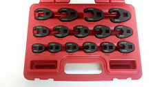 Metric Crows Foot Spanner Set 15PC Workshop Quality  Flare Nut Type Crowsfoot