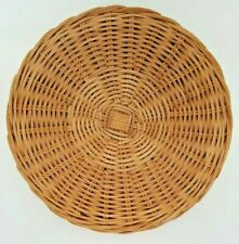 "Set of 4 Woven Rattan Round Placemats 7"" Mats Coasters Vintage Home Patio Decor"