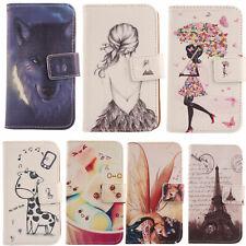 Für Medion Life/Doro Smartphone-Lovely PU Leder Flip Wallet Case Cover Skin