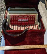 1950s Scandalli Italy 3-Function Accordion Red & White w/Case L 572/193 Italian