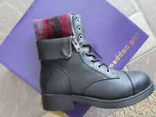 NEW MADDEN GIRL MERLINN BLACK ANKLE BOOTS BOOTIES WOMENS 9