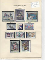 France 1963 MM+Used Stamps On 2 Pages  Ref: R6507