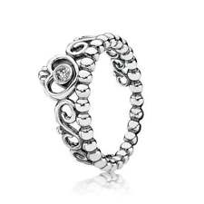 PANDORA Sterling Silver My Princess Stackable Ladies Ring 190880CZ58