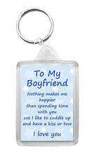 BOYFRIEND Keyring Keyfob 'I Love You' Birthday Valentines Novelty Gift Keepsake