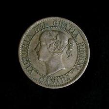1859 Canada Large Cent Victoria high grade AU