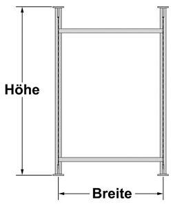 Regalsystem für Wohnmobil Heck-Garagen - GrundmoduL Art.Nr.9936610