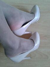 Well Worn Ladies Beige  High Heel Work Shoe UK Size 7