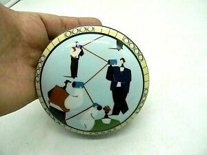 Tiffany & Co Porcelain Lidded Trinket Box Men Memphis Style Invesco