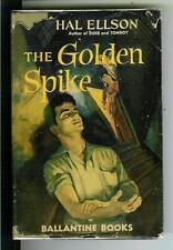 THE GOLDEN SPIKE by Ellson, rare Ballantine #2 drugs crime hardcover in jacket