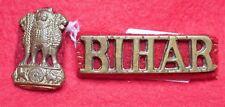 The Bihar Regiment Shoulder Title and Collar Badge 1941 -