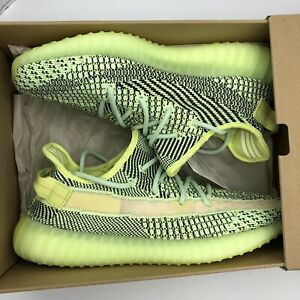 Adidas Yeezy Boost 350 Yeezreel Glow Black Size 9.5 FW5191 Yechiel