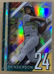 2020 Topps Chrome Update Rickey Henderson A Numbers Game Oakland A's NGC-5