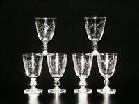 Baccarat 19th Century Cut Pressed Crystal Beer / Wine Glasses.