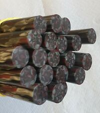 Rare lot of 20 old galalithe rods multicolors marbled