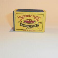 Matchbox Lesney 45 a Vauxhall Victor Sedan empty Repro B style Box